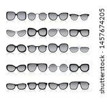 sunglasses icon set. different... | Shutterstock .eps vector #1457674205