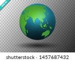 modern 3d world map concept... | Shutterstock .eps vector #1457687432