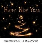 sparkling christmas tree on... | Shutterstock . vector #145769792