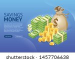 set of money icon banner.... | Shutterstock .eps vector #1457706638