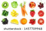 collection of fruits and... | Shutterstock . vector #1457709968