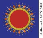 arabic floral frame.... | Shutterstock .eps vector #1457716328