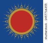 arabic floral frame.... | Shutterstock .eps vector #1457716355