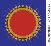 arabic floral frame.... | Shutterstock .eps vector #1457716382