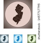 vector map of the new jersey | Shutterstock .eps vector #1457717795