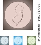 vector map of the new jersey | Shutterstock .eps vector #1457717798