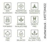 vector set of design elements ... | Shutterstock .eps vector #1457724422