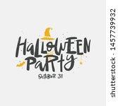 halloween party vector brush... | Shutterstock .eps vector #1457739932