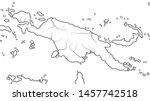 world map of papua new guinea   ... | Shutterstock .eps vector #1457742518