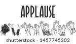 vector illustration of applause ... | Shutterstock .eps vector #1457745302