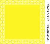 decorative frame elegant vector ... | Shutterstock .eps vector #1457752988