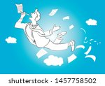 inspiration.a man floating in... | Shutterstock .eps vector #1457758502