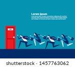 people running to job door.... | Shutterstock .eps vector #1457763062