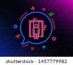 lift line icon. neon laser... | Shutterstock .eps vector #1457779982