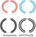 round frame vector colorful... | Shutterstock .eps vector #1457791628