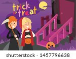trick or treat with fun... | Shutterstock .eps vector #1457796638
