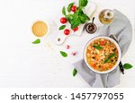 minestrone  italian vegetable... | Shutterstock . vector #1457797055