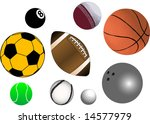 collection of various sports... | Shutterstock . vector #14577979