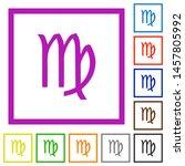 virgo zodiac symbol flat color... | Shutterstock .eps vector #1457805992