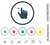 right handed move left gesture... | Shutterstock .eps vector #1457805995