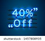 neon frame 40 off text banner.... | Shutterstock .eps vector #1457808935