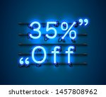 neon frame 35 off text banner.... | Shutterstock .eps vector #1457808962