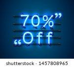 neon frame 70 off text banner.... | Shutterstock .eps vector #1457808965