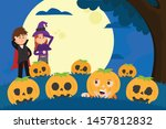 peek a boo  have fun with kids... | Shutterstock .eps vector #1457812832