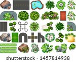 collection of outdoor nature... | Shutterstock .eps vector #1457814938