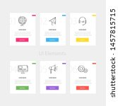 colorful web cards template...