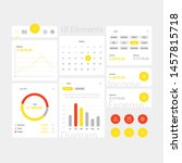 yellow web and app ui elements...