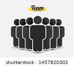people icon in trendy flat... | Shutterstock .eps vector #1457820302