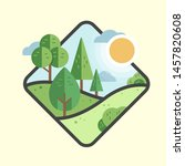 nature vector flat icon square | Shutterstock .eps vector #1457820608