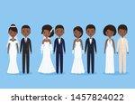 bride and groom. african... | Shutterstock .eps vector #1457824022