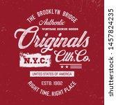 """new york"" typography. vintage... | Shutterstock .eps vector #1457824235"