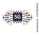 5g network concept. 5g...   Shutterstock .eps vector #1457833652