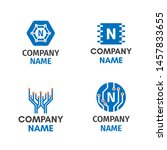 microelectronics circuits logo...   Shutterstock .eps vector #1457833655