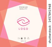 logotype   two hemispheres of... | Shutterstock .eps vector #1457841968