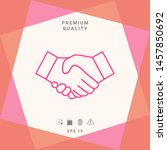 handshake line icon. graphic... | Shutterstock .eps vector #1457850692
