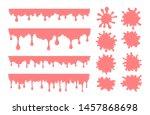 vector set of pink bubble gum... | Shutterstock .eps vector #1457868698