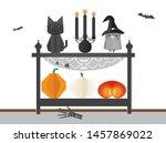 halloween party decoration idea ... | Shutterstock .eps vector #1457869022