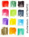 colorful square in watercolor | Shutterstock . vector #145786952