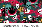 seamless pattern dedicated to... | Shutterstock .eps vector #1457870948