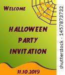 halloween party design... | Shutterstock .eps vector #1457873732