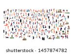 crowd of flat illustrated... | Shutterstock .eps vector #1457874782