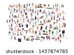 crowd of flat illustrated... | Shutterstock .eps vector #1457874785