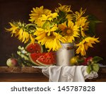 Still Life With Sunflowers An...