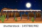western desert themed scene in... | Shutterstock .eps vector #1457881982