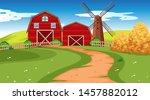 farm scene in nature with barn... | Shutterstock .eps vector #1457882012