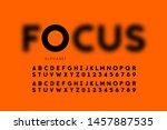 in focus style font design ... | Shutterstock .eps vector #1457887535